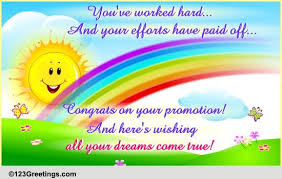 Congrats On Your Promotion Your Efforts Have Paid Off Free Promotion Ecards Greeting