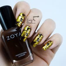Nail Foil nail art design with Tmart nail foils - Lucy's Stash