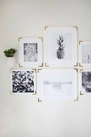 picture frames on wall simple. Try This- Update Simple Frames With Gold Hardware Picture On Wall P