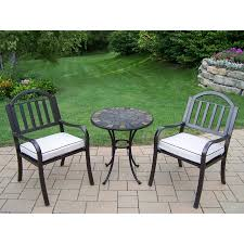 oakland living furniture outdoor. oakland living stone art 3-piece bistro patio dining set furniture outdoor