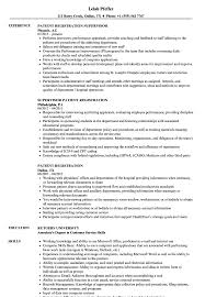 Patient Registration Resume Samples Velvet Jobs