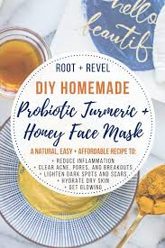 this easy diy probiotic turmeric honey face mask is an all natural effective