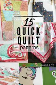 15 Quick Quilt Patterns | Easy to Make &  Adamdwight.com