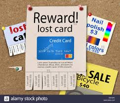 Lost Credit Cards Are The Theme Of This Illustration Lost