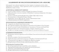 Volunteer Resume Template Awesome 28 Volunteer Resume Templates PDF DOC Free Premium Templates