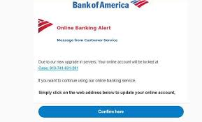 bank of america email scam still going