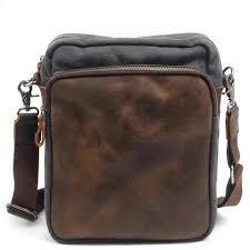 Designer Shoulder Bags Mens Vintage Brand Canvas Men Bag Fashion Leather Crossbody Bag Shoulder Men Messenger Bags Small Casual Designer Handbags Man Bags