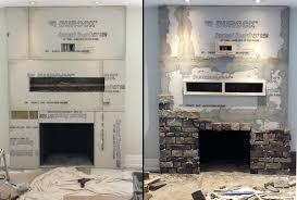 installing stone veneer how to install panels on fireplace faux adding over brick