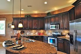 dark stained kitchen cabinets. Modren Dark Kitchen Oak Cabinets Traditionalkitchen On Dark Stained C