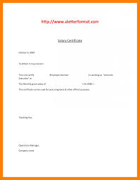 6 Salary Certificate Letter Pdf Simple Salary Slip