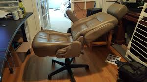 Old office chair Leather An Old Office Chair On Craigslist For Free Lots Of Seat Options At The Junk Yard Might Be Good With Racing Seat Out Of Sports Car Of Some Sort Overclocknet Made Gaming Chair Out Of An Old Worn Out Office Chair Base And