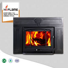 hiflame over 20kw large fireplace frame steel cast iron fireplace insert hf577iu3