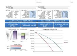 mortgage amortization comparison calculator free loan amortization comparison template download