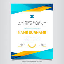certificate template vectors photos and psd files  certificate of achievement full color