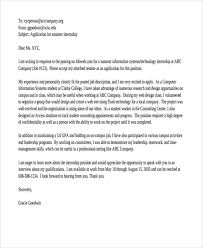 Summer Job Cover Letter 9 Free Word Pdf Format Download Free