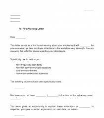 employee warning letter sle template