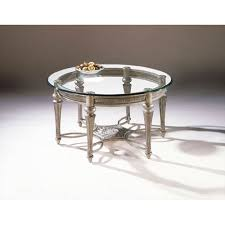 magnussen home galloway glass round cocktail table w glass top