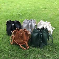 2019 domil blank whole women tassel drawstring bucket bag faux leather bucket crossbady bag drawstring handbag dom556 from domil blanksmall