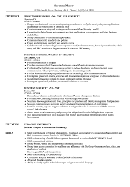 Banking Business Analyst Resume Sample Business Security Analyst Resume Samples Velvet Jobs 9