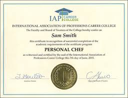 Personal Chef Certificate Course Online