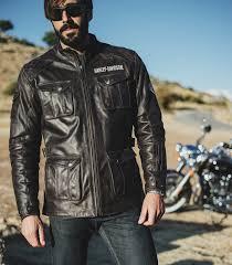 h d motorclothes harley davidson messenger 3 4 leather jacket ec 98123 17em