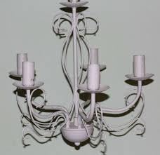 Shabby Chic Kronleuchter Alte Lampe 5 Armig Hängelampe Weiß