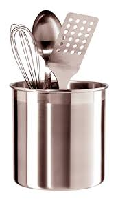 Amazon.com: Oggi 7211 Jumbo Stainless Steel Utensil Holder: Kitchen & Dining