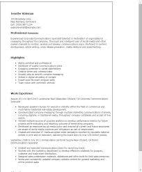 Digital Communications Resume Corporate Communications Resumes Under Fontanacountryinn Com