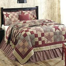 Country Star Patchwork Quilt Set Country Star Patchwork Quilts ... & ... Primitive Country Star Patch Red Queen 5 Piece Quilt Set Https Country  Star Quilts Bedspreads Country ... Adamdwight.com