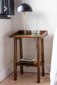 dark mango wood bedside table with