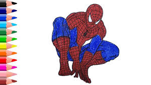 Spiderman coloring pages ,how to color spiderman coloring pages tv, superhero drawing music: Spider Man Drawing Spider Man Coloring Pages Coloring Video For Kids Coloring Pages Spiderman Coloring For Kids