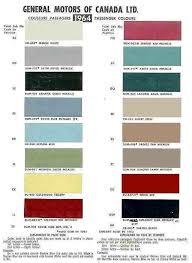 1964 El Camino Color Chart Paint Code Paint Color Codes