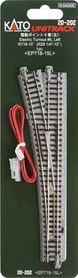 top ideas about model train track electrical kato 20 202 n scale unitrack 6 remote left hand turnout 20202