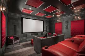 inexpensive home theater seating. Inexpensive Home Theater Seating Contemporary With Red Leather Jim Thompson Charcoal Walls