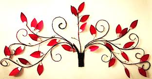 red leaves cherry blossom wall decor