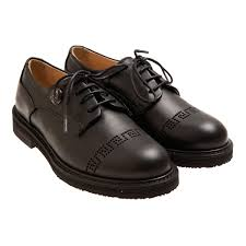 Young Versace Size Chart Boys Black Leather Oxford Shoes From Young Versace