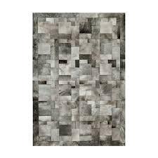 cowhide rug k 1914 beige grey puzzle