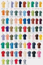 Gildan 5000 Color Chart 2018 Gildan Shirts Color Chart 2018 Toffee Art