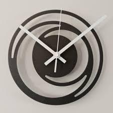 Horloge Design Horloge Platinium Non Concentric Cercles Mini Diam 20 Cm