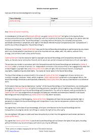 Session Musician Contract Template
