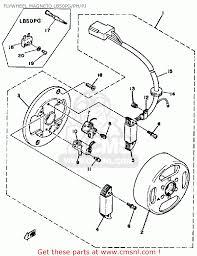 Yamaha lb50pj chappy 19801982 flywheel mag o lb50pgphpj