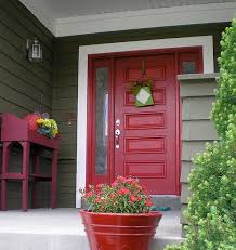 front door clipart. House White With Red Front Door Clipart