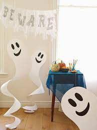 quick and easy halloween paper crafts spinning spirits