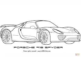 Coloriage Porsche 918 Spyder Coloriages Imprimer Gratuits