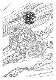 Small Picture Adult coloring page moon sun stars Saturn 7