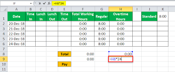 Excel Formula For Timesheet Timesheet In Excel Guide To Create Timesheet Calculator