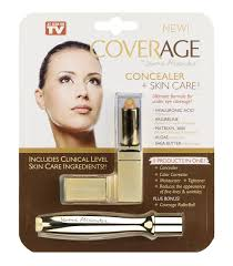 coverage by jerome alexander a 5 in 1 concealer stick and rollerball for