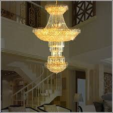 hotel lobby crystal font b chandelier b font modern high ceiling led lamp font b chandeliers