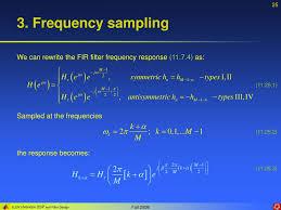 Frequency Sampling Method Fir Filter Design Ppt Lecture 11 Lti Fir Filter Design Powerpoint