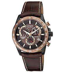 1000 images about citizen eco drive jewelry citizen watch men s eco drive perpetual chrono a t brown leather strap 42mm at4006